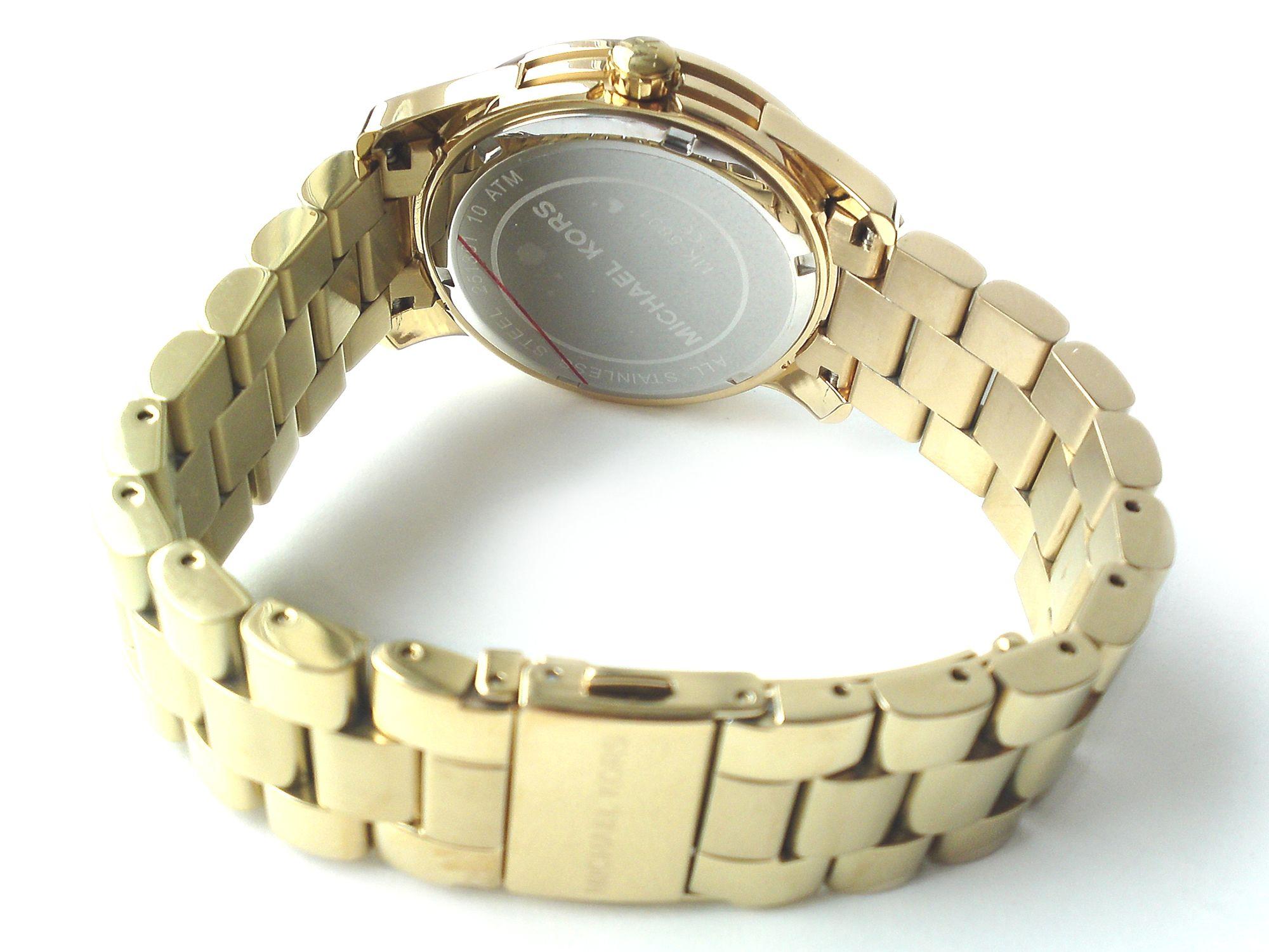michael kors damen armband uhr edelstahl vergoldet runway. Black Bedroom Furniture Sets. Home Design Ideas